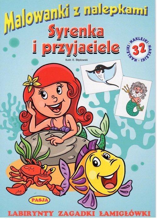 Syrenka i przyjaciele malowanki - okładka książki