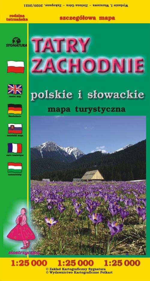 Tatry Zachodnie Polskie i Słowackie - okładka książki