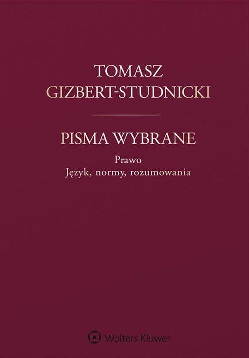 Tomasz Gizbert-Studnicki. Pisma - okładka książki