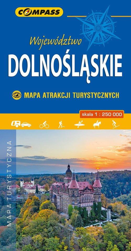 Województwo Dolnośląskie - Mapa - okładka książki
