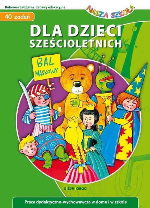 40 zadań dla dzieci sześcioletnich - okładka książki