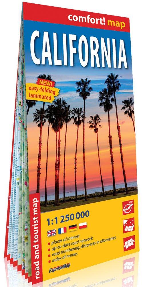 Comfort! map California 1:250 000 - okładka książki