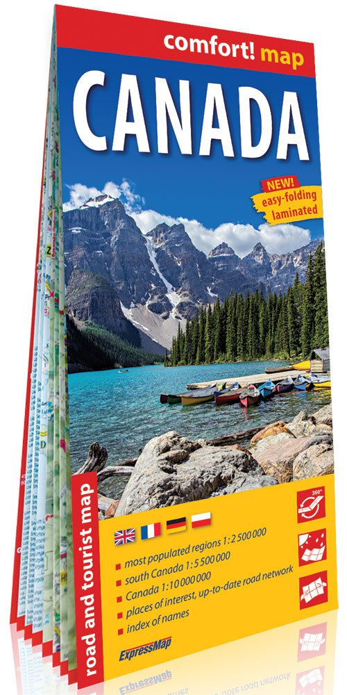 Comfort! map Canada 1:2 500 000 - okładka książki