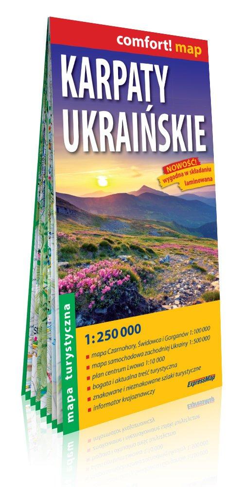 Comfort!map Karpaty Ukraińskie - okładka książki