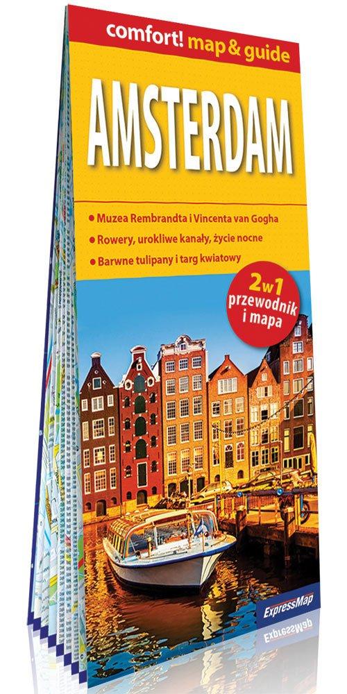 Comfort!map&guide Amsterdam 2w1 - okładka książki