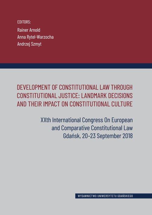 Development of Constitutional Law - okładka książki
