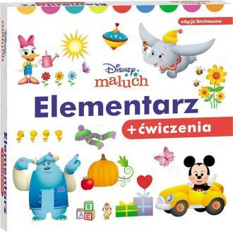 Disney Maluch Elementarz 2-latka+ćwiczenia - okładka książki