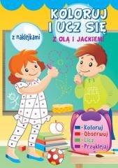 Koloruj i ucz się z Olą i Jackiem - okładka książki
