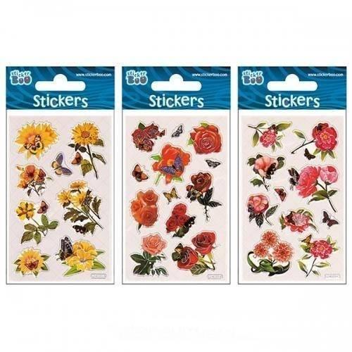 Naklejki Sticker BOO silver kwiaty - zdjęcie produktu