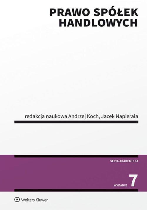 Prawo spółek handlowych - okładka książki