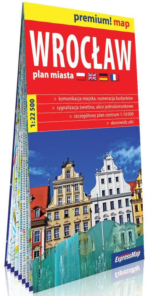 Premium! map Wrocław 1:22 500 plan - okładka książki