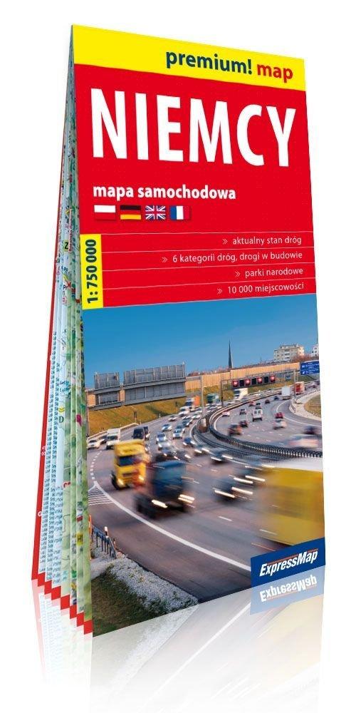 Premium!map Niemcy 1:750 000 mapa - okładka książki