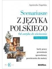 Scenariusze z języka polskiego. - okładka książki