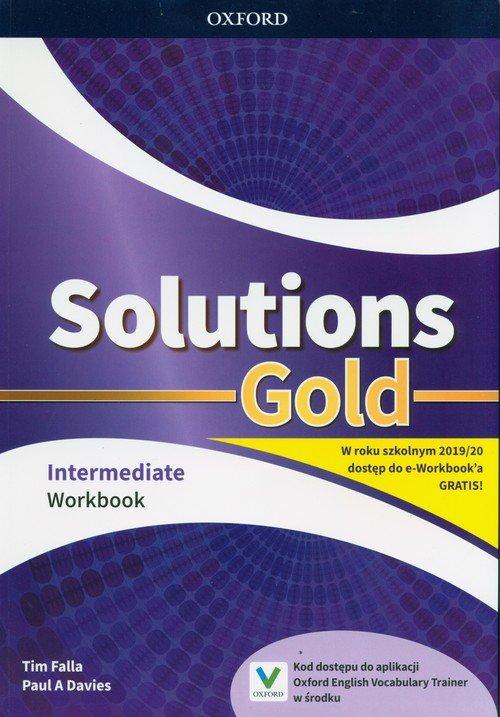 Solutions Gold Intermediate Workbook. - okładka podręcznika