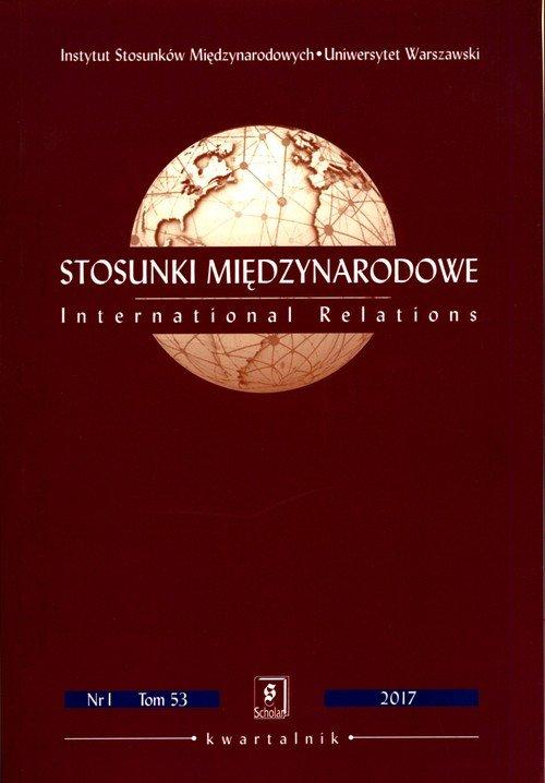 Stosunki Międzynarodowe 1/2017. - okładka książki
