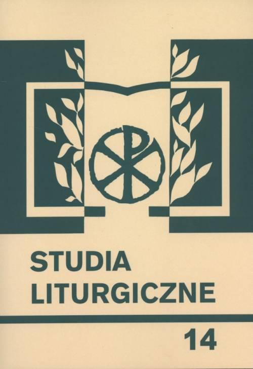 Studia liturgiczne. Tom 14. Seria: - okładka książki