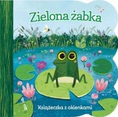 Zielona żabka. Książeczka z okienkami - okładka książki
