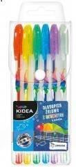 Długopisy żelowe z brokatem 6 kolorów - zdjęcie produktu