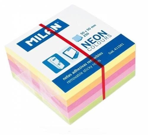 Karteczki neon mix minikostka 50x50 - zdjęcie produktu