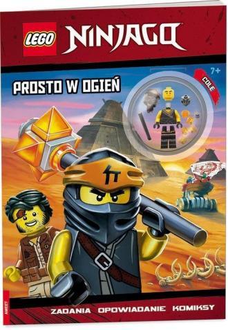Lego Ninjago. Prosto w ogień - okładka książki