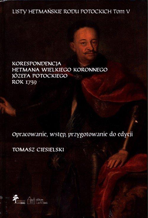 Listy hetmańskie rodu Potockich. - okładka książki