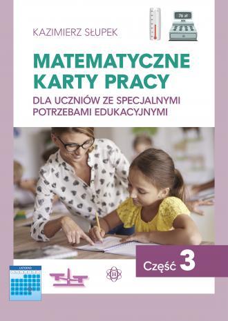 Matematyczne karty pracy cz. 3 - okładka podręcznika