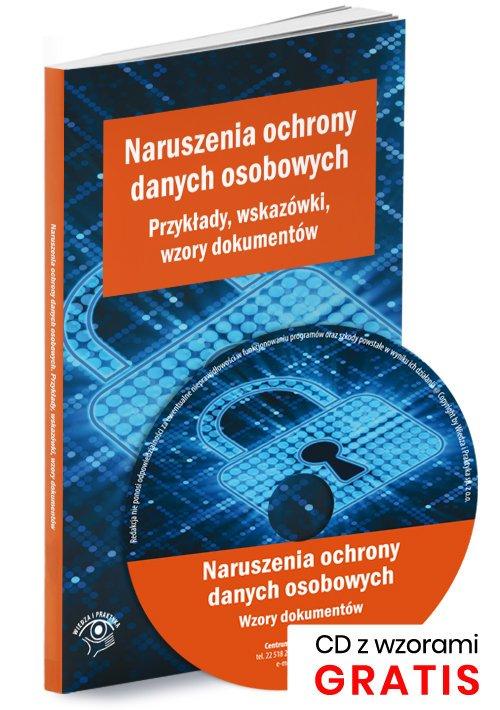 Naruszenia ochrony danych osobowych. - okładka książki