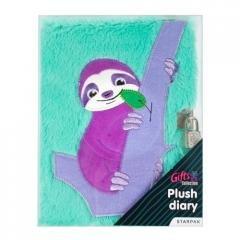 Pamiętnik pluszowy na kłódkę leniwiec - okładka książki