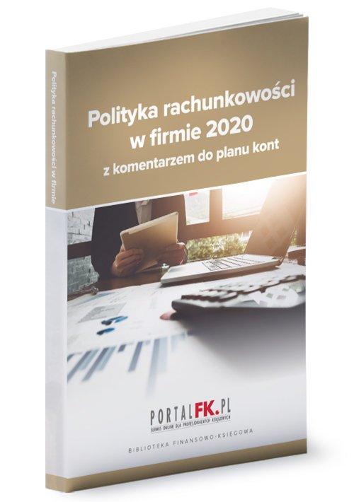 Polityka rachunkowości 2020 z komentarzem - okładka książki