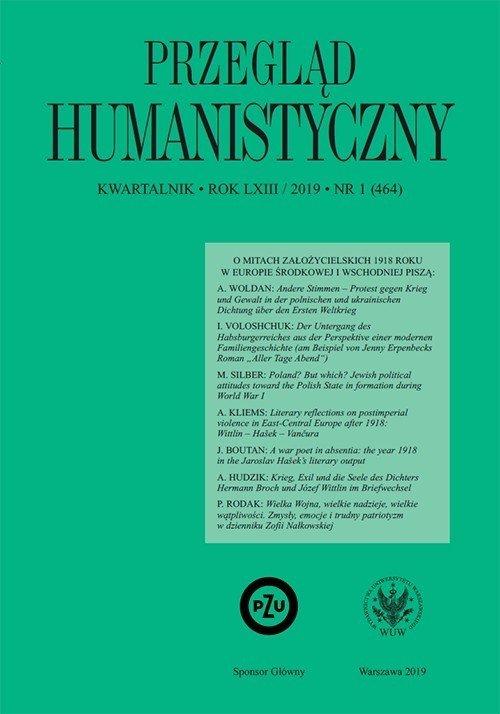 Przegląd Humanistyczny 2019/1 (464) - okładka książki