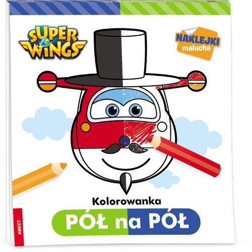 Super Wings. Kolorowanka pół na - okładka książki