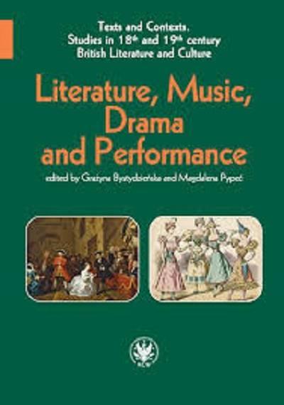 Literature, Music, Drama and Performance - okładka książki