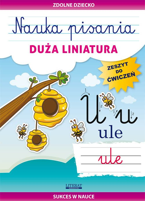 Nauka pisania Duża liniatura. Zeszyt - okładka podręcznika