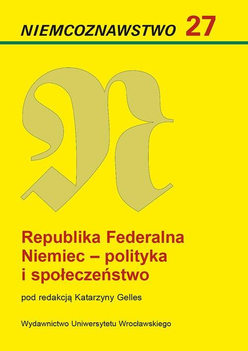 Niemcoznawstwo 27. Republika Federalna - okładka książki