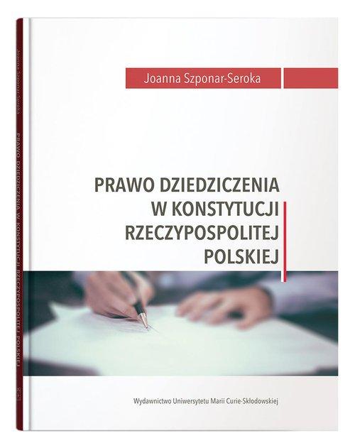 Prawo dziedziczenia w Konstytucji - okładka książki