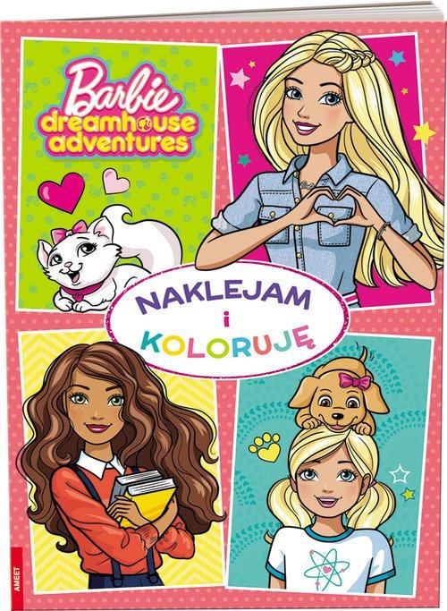Barbie. Naklejam i Koloruję - okładka książki