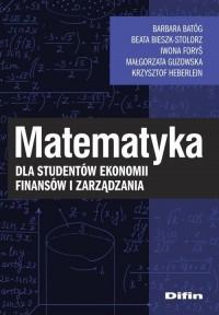 Matematyka dla studentów ekonomii, - okładka książki
