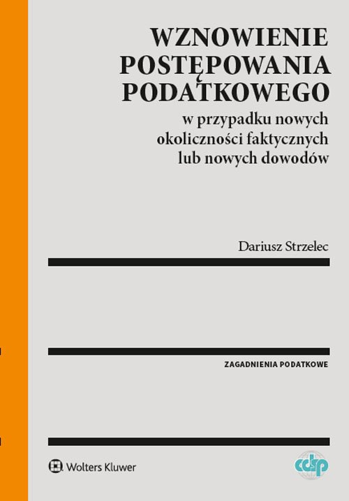 Wznowienie postępowania podatkowego - okładka książki