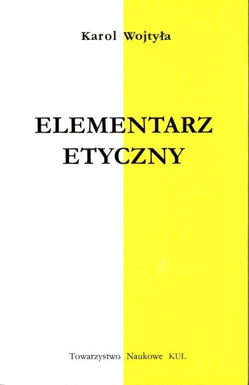 Elementarz Etyczny - okładka książki