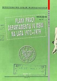 Plany pracy Departamentu IV MSW - okładka książki