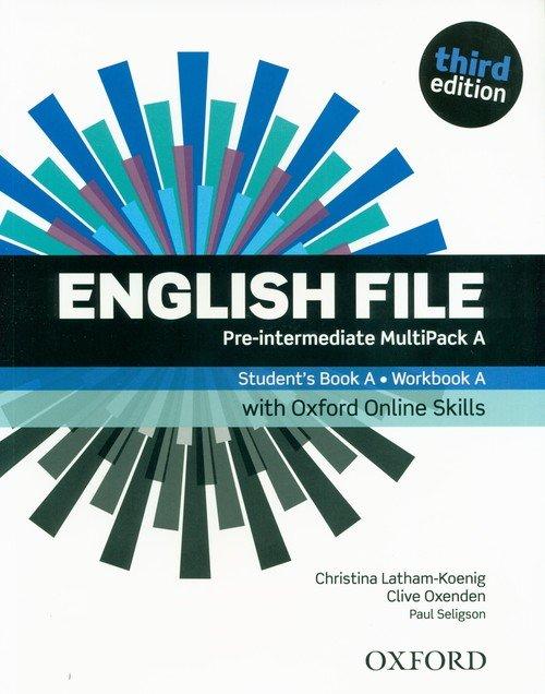 English File 3E Pre-Intermed. Multipack - okładka podręcznika