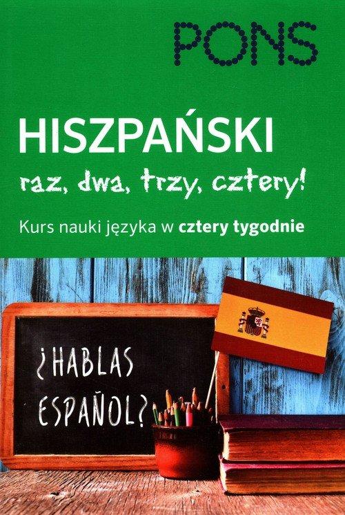 Hiszpański - Raz, dwa, trzy, cztery - okładka podręcznika