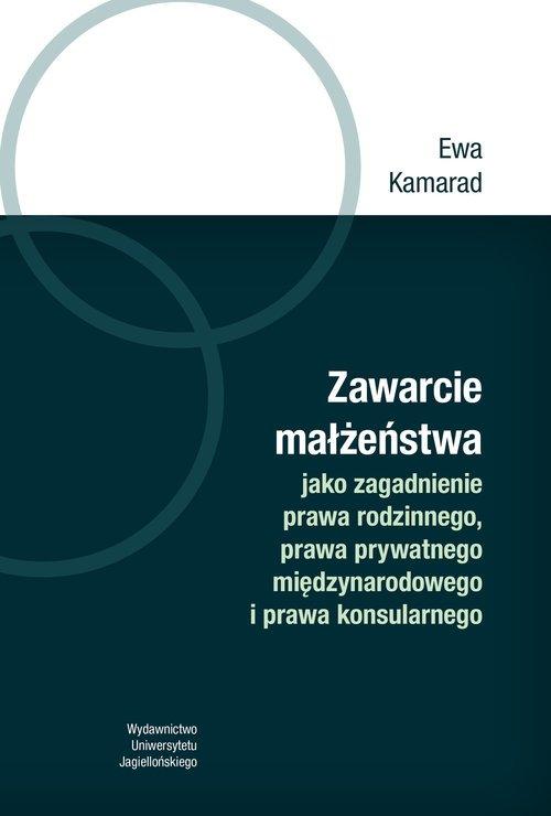 Zawarcie małżeństwa jako zagadnienie - okładka książki