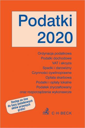Podatki 2020 - okładka książki