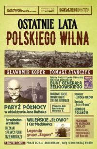 Ostatnie lata polskiego Wilna - okładka książki