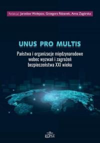 Unus pro multis. Państwa i organizacje - okładka książki