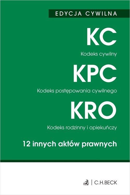 Edycja cywilna Kodeks cywilny. - okładka książki