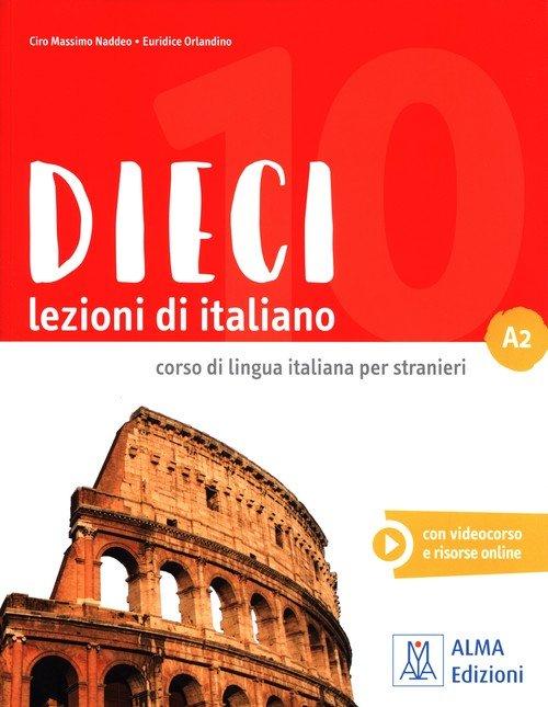 Dieci A2 Lezioni di italiano + - okładka podręcznika