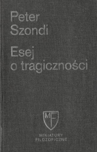 Esej o tragiczności - okładka książki