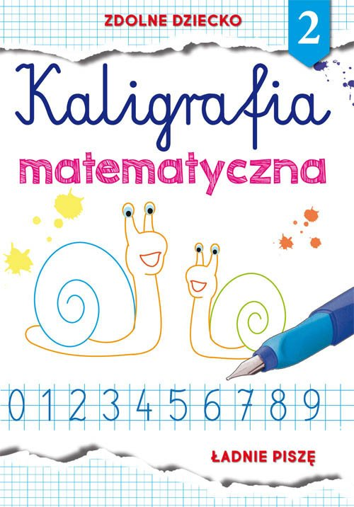Kaligrafia matematyczna 2. Ładnie - okładka podręcznika